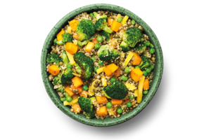 Quinoa and Green Lentils with Olive Oil Basil Dressing