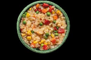 Arroz de Coliflor con Vegetales y Salsa Teriyaki